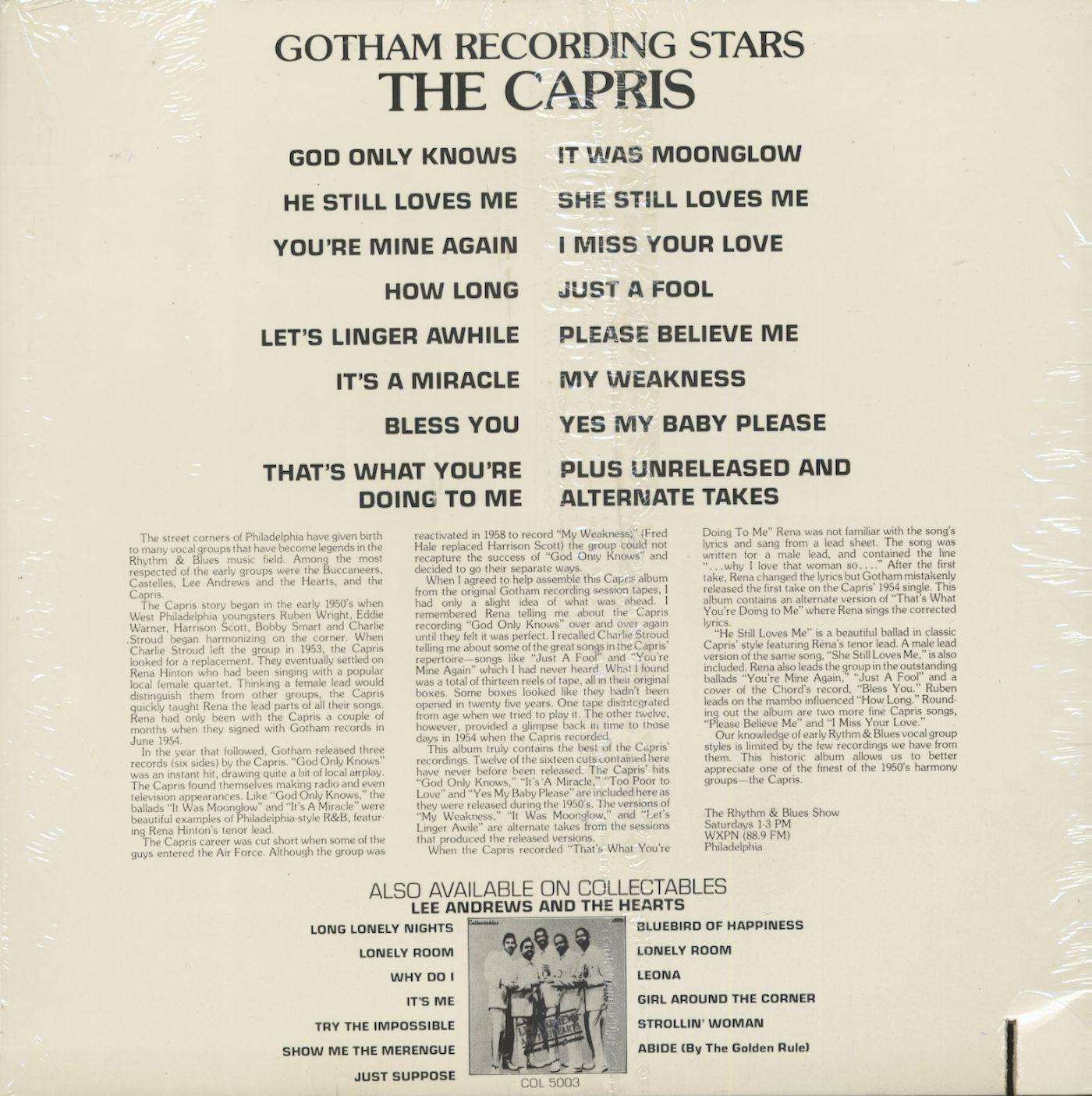 The Capris Gotham Recording Stars (LP)