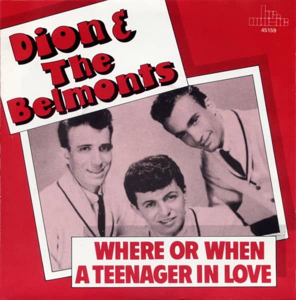 Where Or When b-w A Teenager In Love 7inch, 45rpm, PS