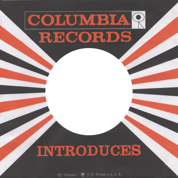 (10) Columbia, USA - 45rpm record sleeve - 7inch Single Cover