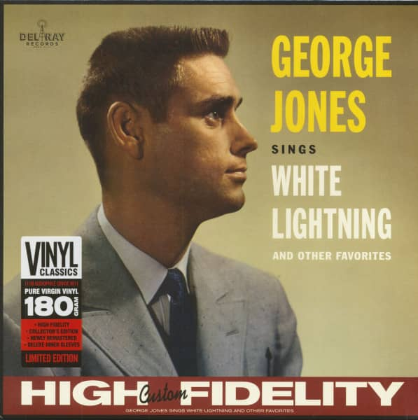 George Jones Sings White Lightning & Other Favorites (LP, 180g Vinyl, Ltd.)