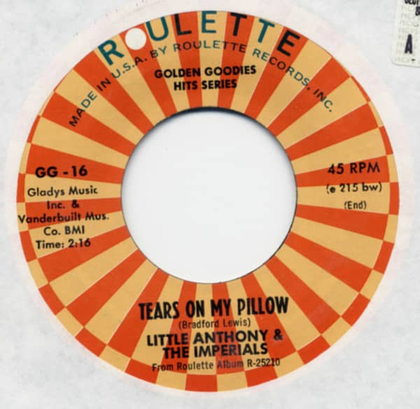 Tears On My Pillow b-w A Prayer And A Juke Box 7inch, 45rpm