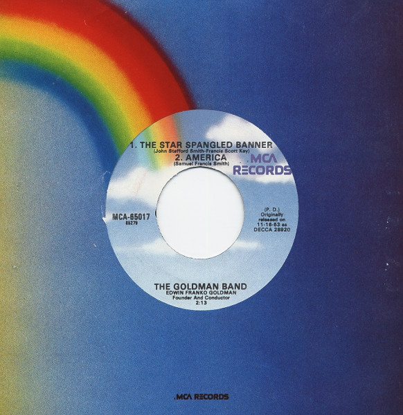 Star Spangled Banner - America - Dixie - 7inch, 45rpm, EP