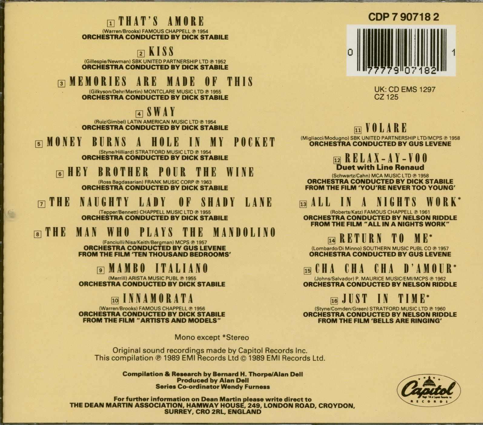 Dean Martin The Best Of The Capitol Years (CD)