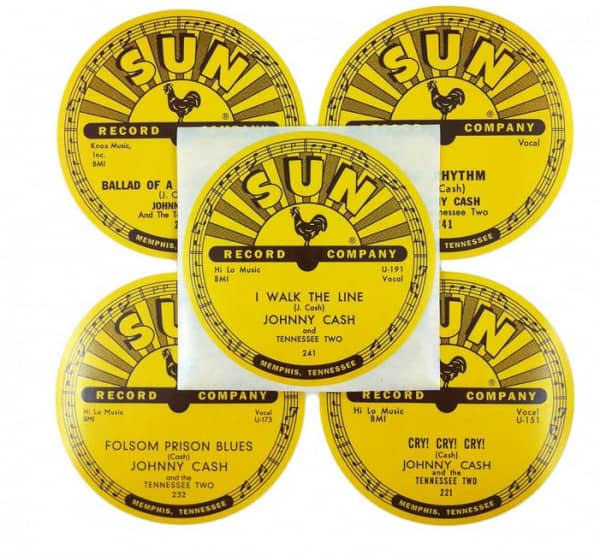 Sun Records 78rpm Label Stickers (Set Of 5)