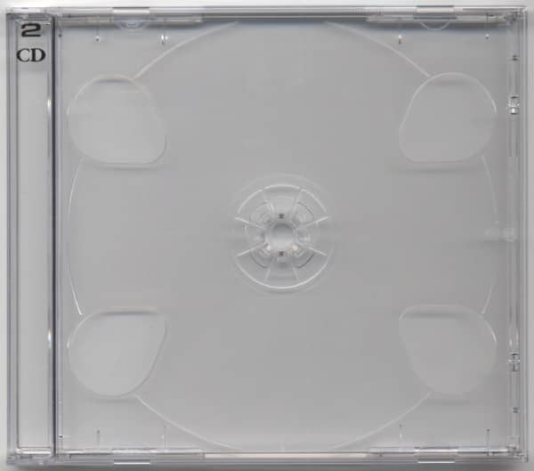 CD case with clear tray for 2 CDs