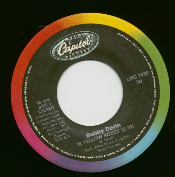 18 Yellow Roses - You´re The Reason I´m Living (7inch, 45rpm)