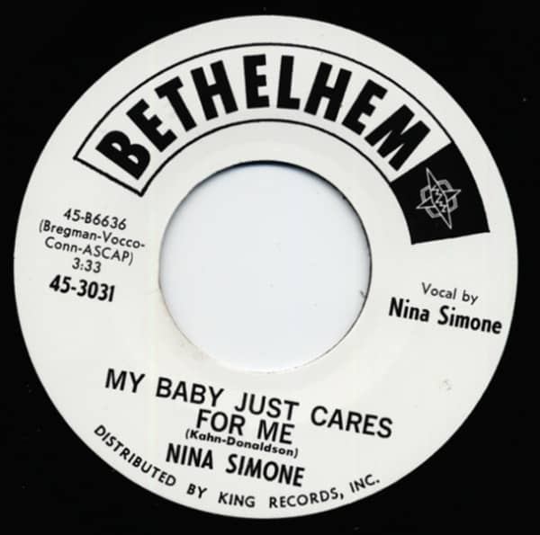 My Baby Just Cares For Me - He Needs Me 7inch, 45rpm