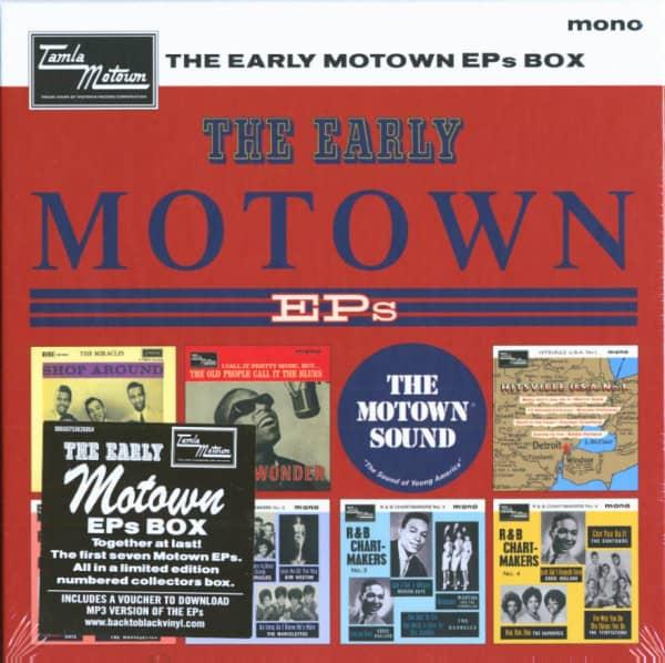 The Early Motown EPs Vinyl Box (7x45rpm EP Box Set, 7inch, SC)