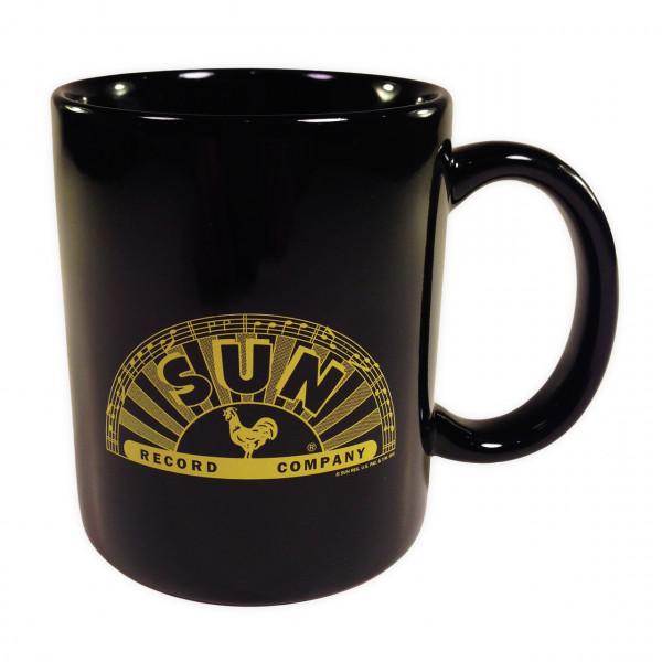 Coffee Mug - Kaffeetasse (black - half logo)