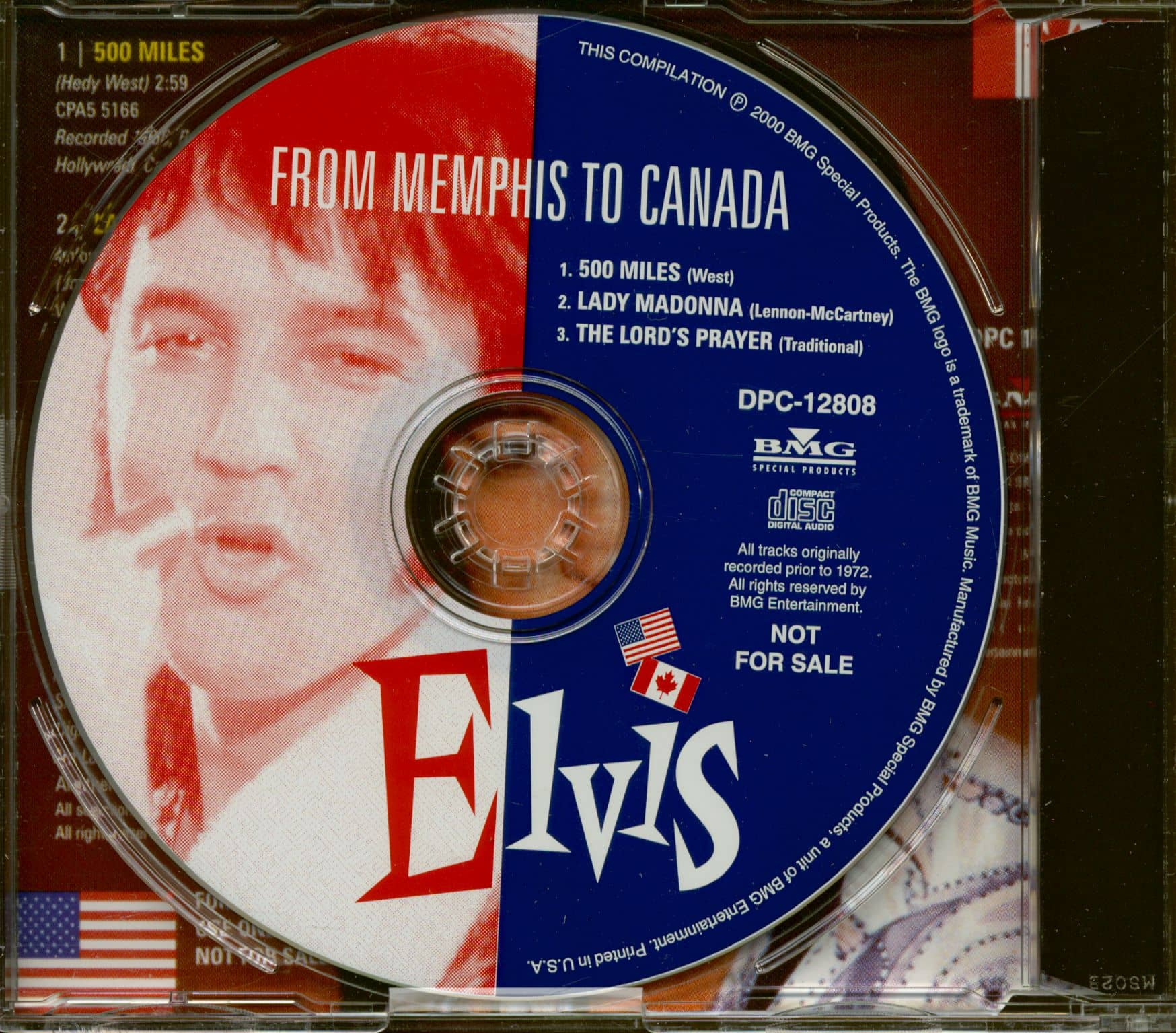 Elvis Presley Cd From Memphis To Canada Cd Single