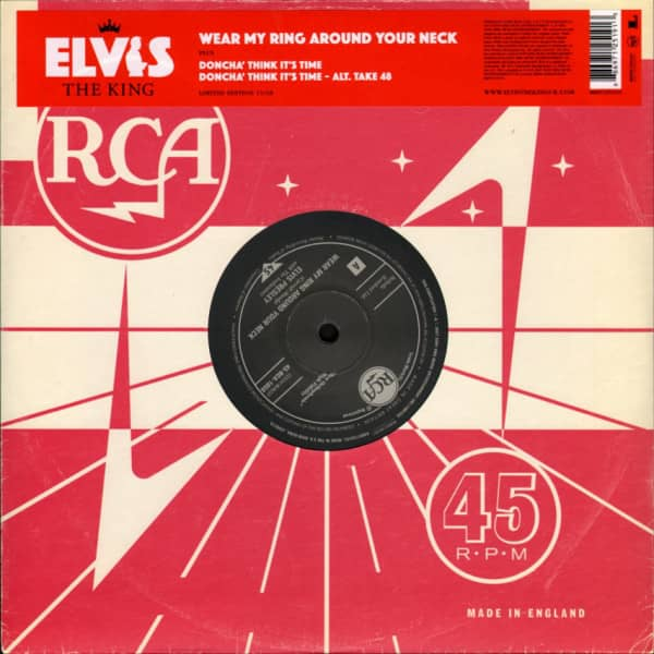 Elvis The King - 18 Of The Greatest Singles Ever Vol.11 (10inch EP, 45rpm, Ltd.)