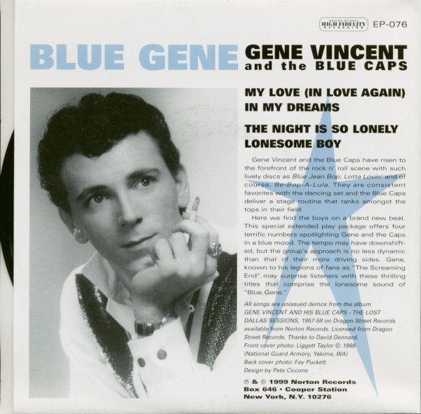 Blue Gene Vincent And The Blue Caps (7inch EP, 45rpm, PS)