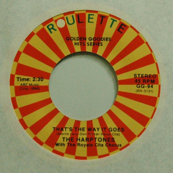 That's The Way It Goes b-w On Sunday Afternoon 7inch, 45rpm