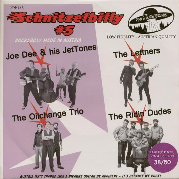 Schnitzelbilly No.5 - Rockabilly Made In Austria (7inch, EP, 33rpm, PS, SC, Purple Vinyl)