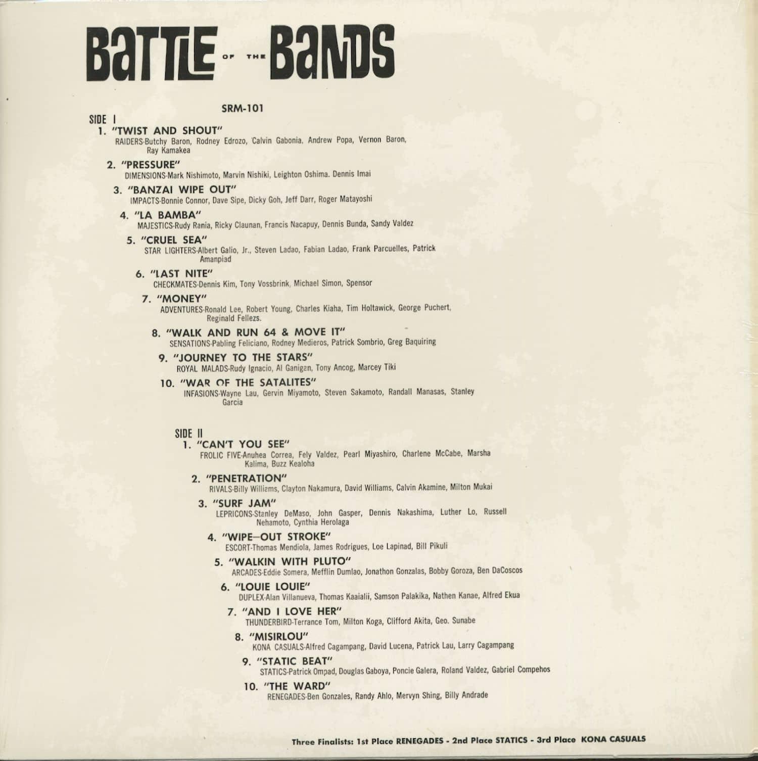 Various Lp Battle Of The Bands Hawaii 1964 Lp Bear