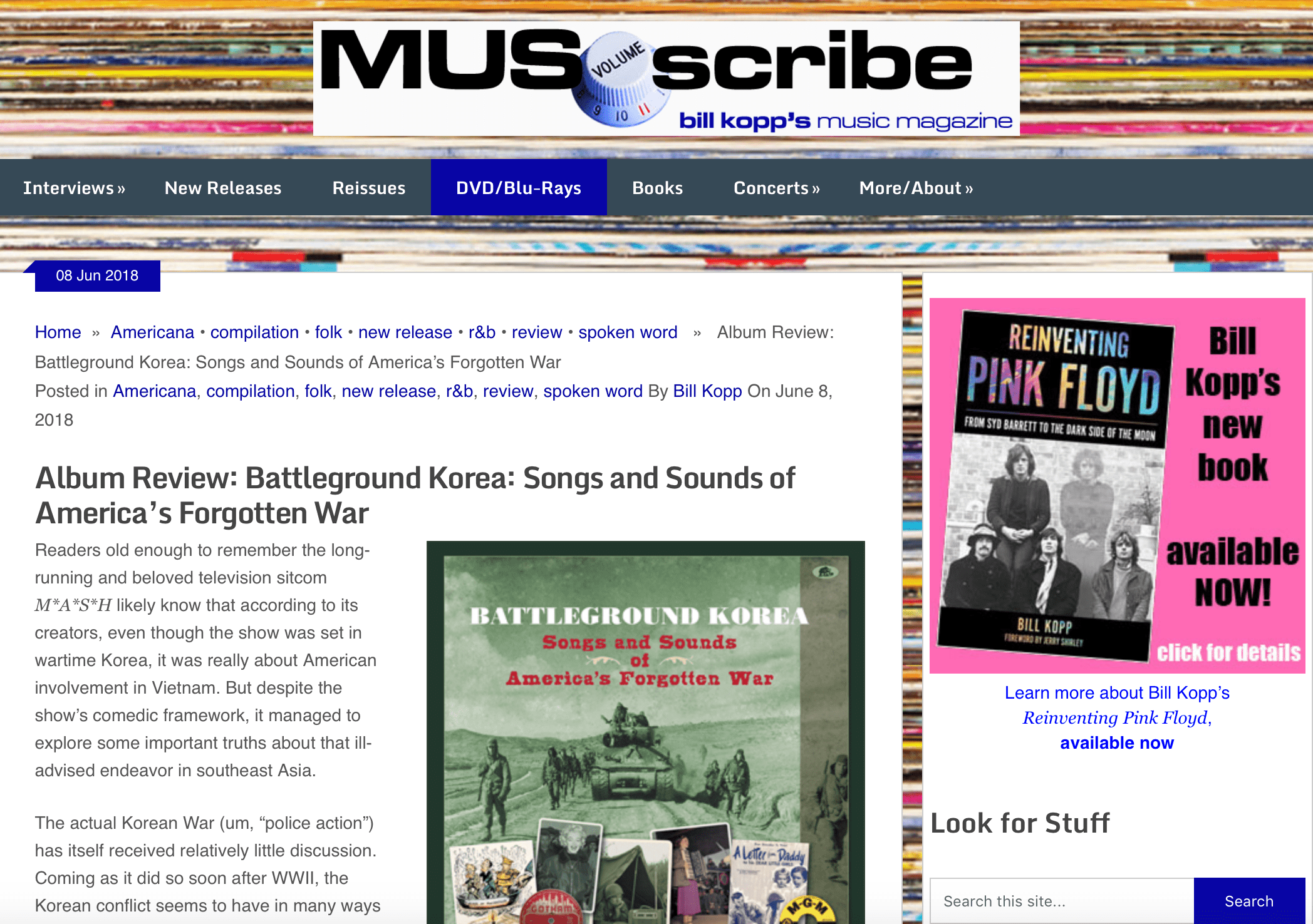 Press Archive - Battleground Korea - Songs and Sounds of America's