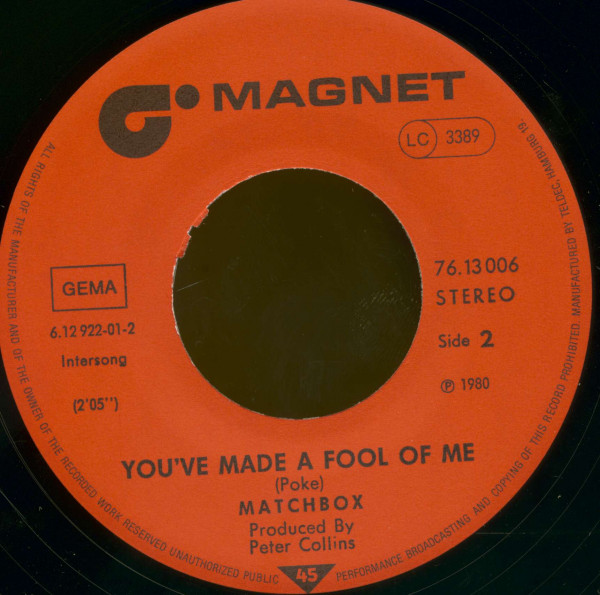 When You Ask About Love - You've Made A Fool Of Me (7inch, 45rpm, BC)