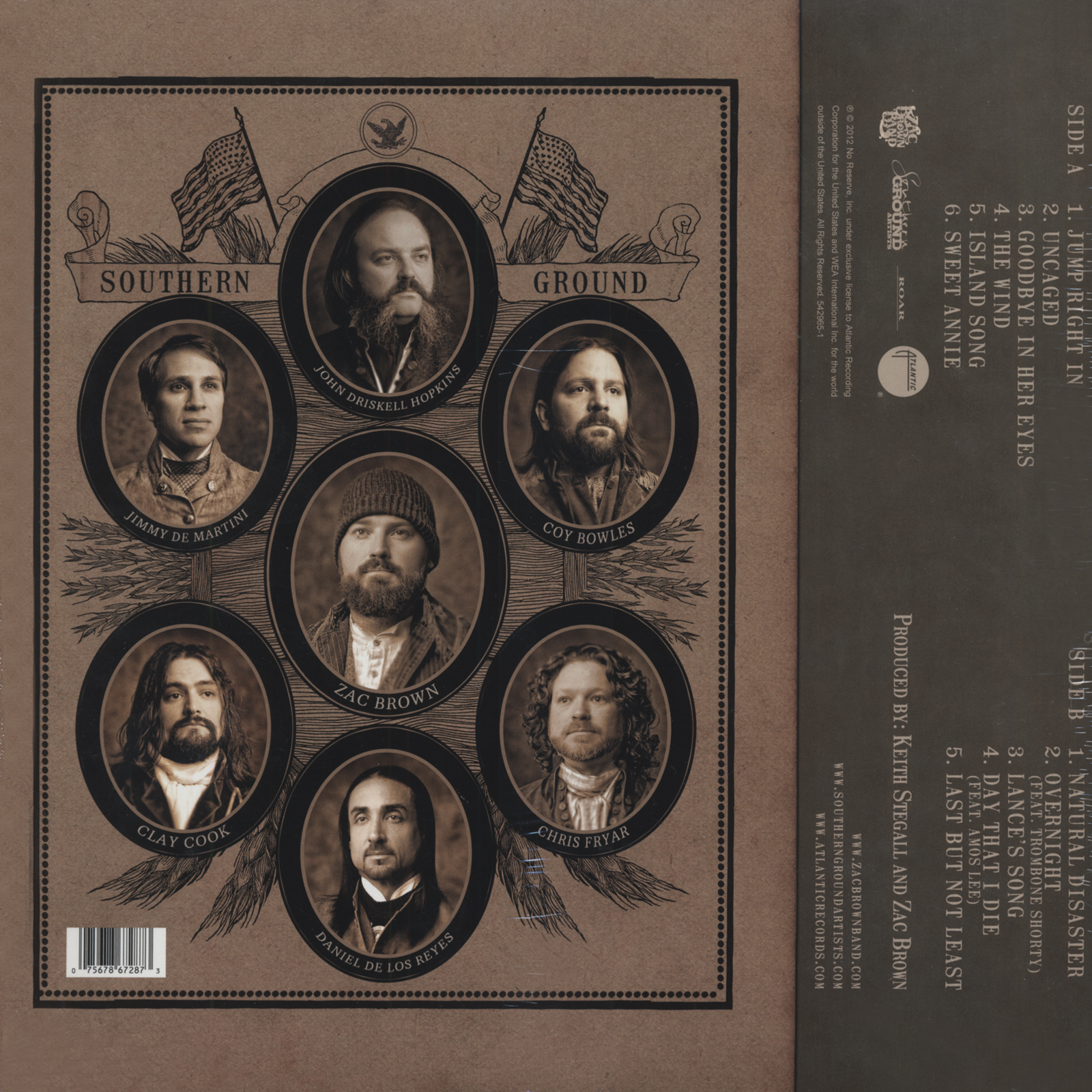 Zac Brown Band Lp Uncaged Bear Family Records