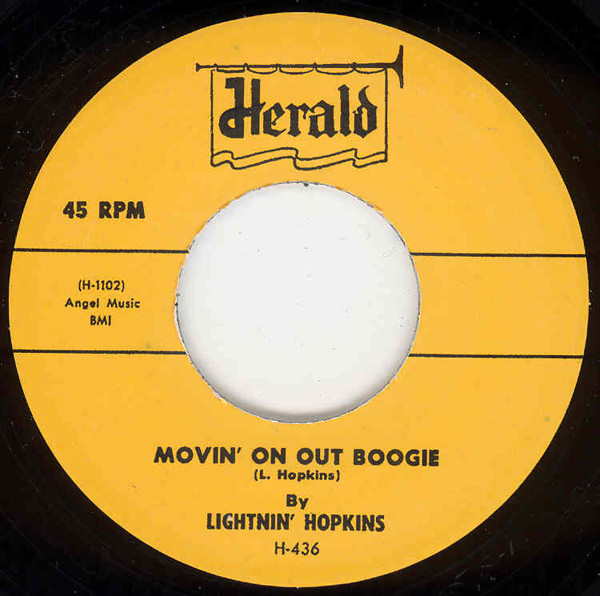Movin' On Out Boogie - Had A Gal Called...7inch, 45rpm