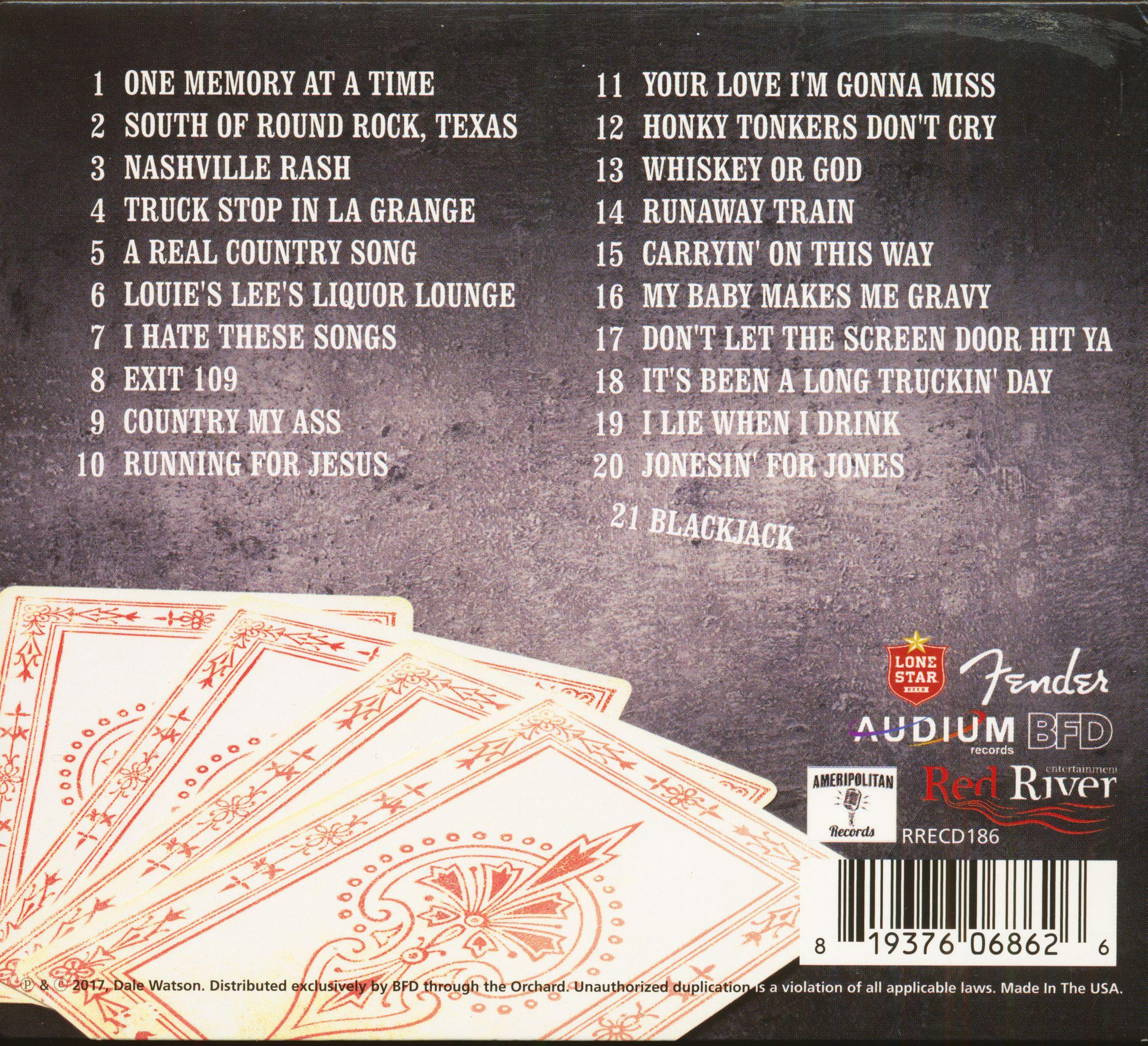 Dale Watson Blackjack (CD)