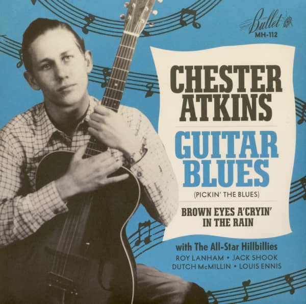 Guitar Blues - Brown Eyes A'Cryin' In The Rain (45rpm Single, BC, Blue Vinyl)