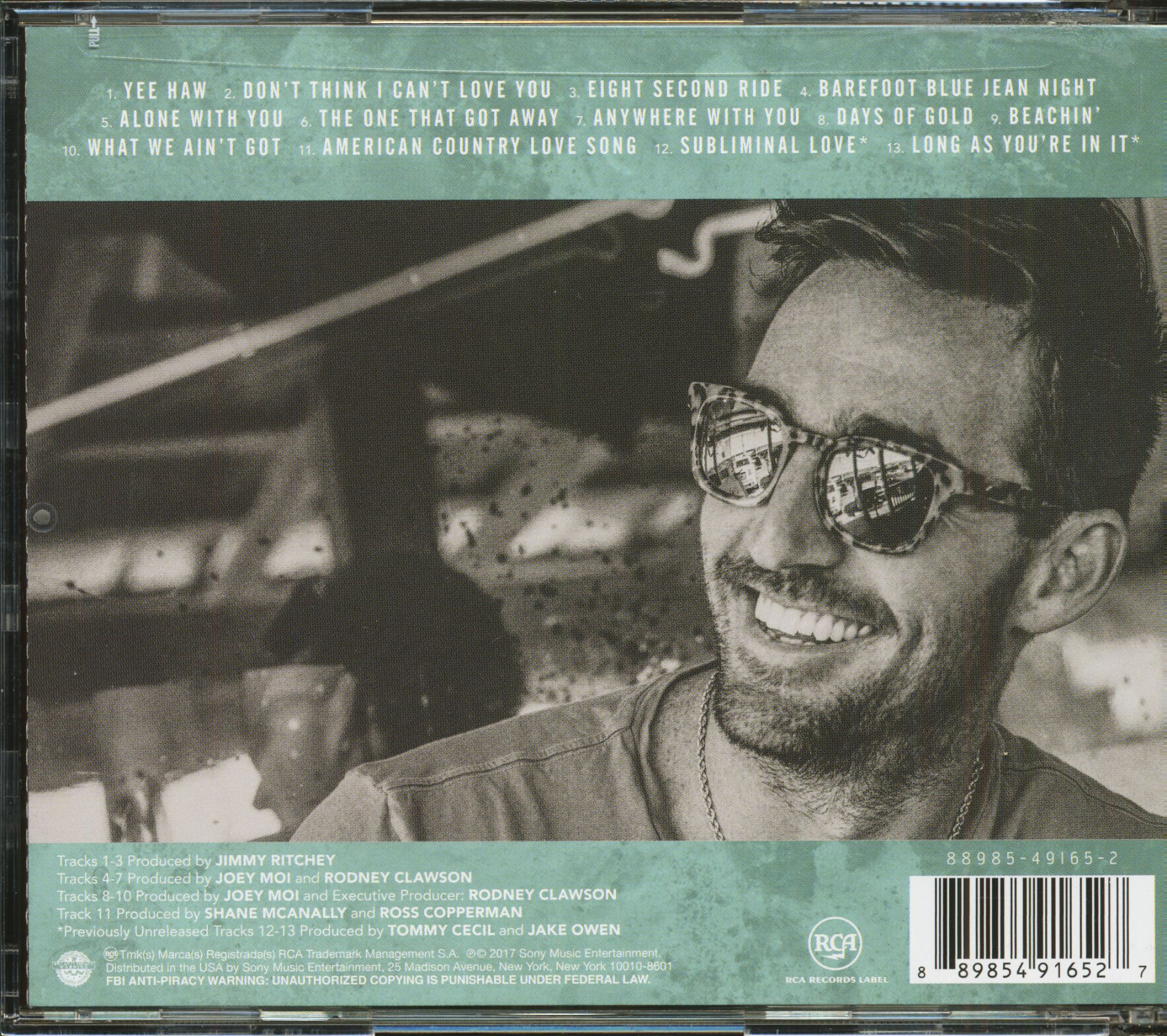 Jake Owen Cd Greatest Hits Cd Bear Family Records