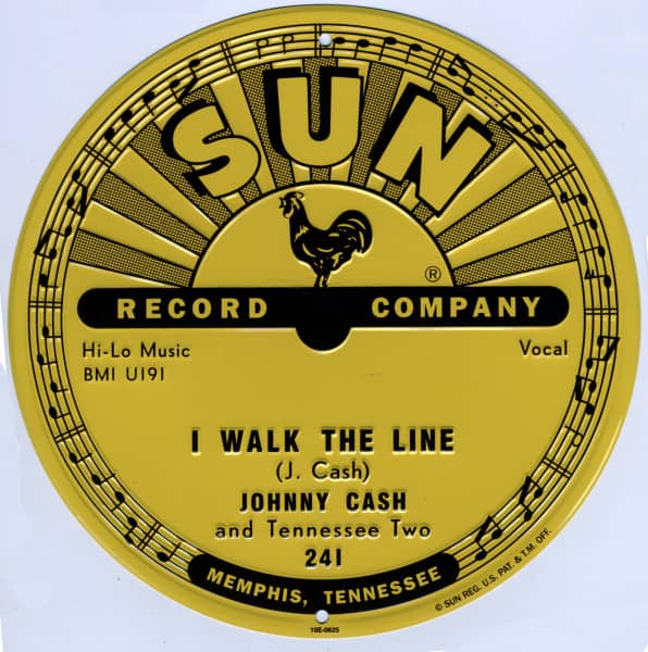 I Walk The Line - Aluminum Sign - Alu-Schild