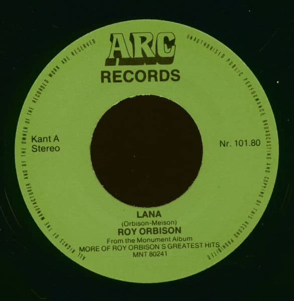 Lana - Mean Woman Blues 7inch, 45rpm, PS