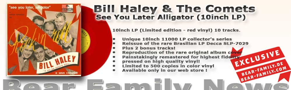 Bill Haley & The Comets See You Later Alligator (10inch LP)