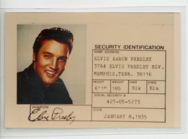 Elvis Souvenir Photo ID