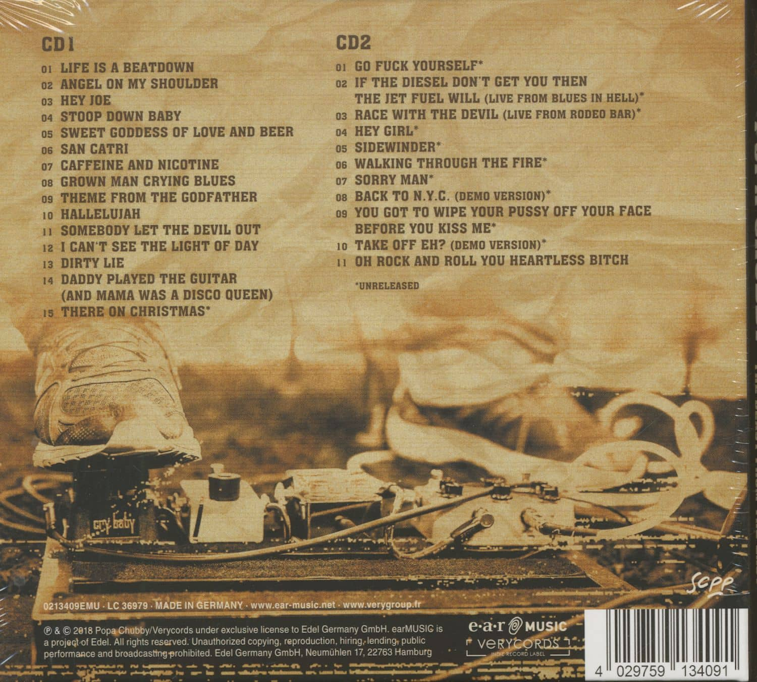 Popa Chubby Prime Cuts - The Very Best Of The Beast From The East (2-CD)