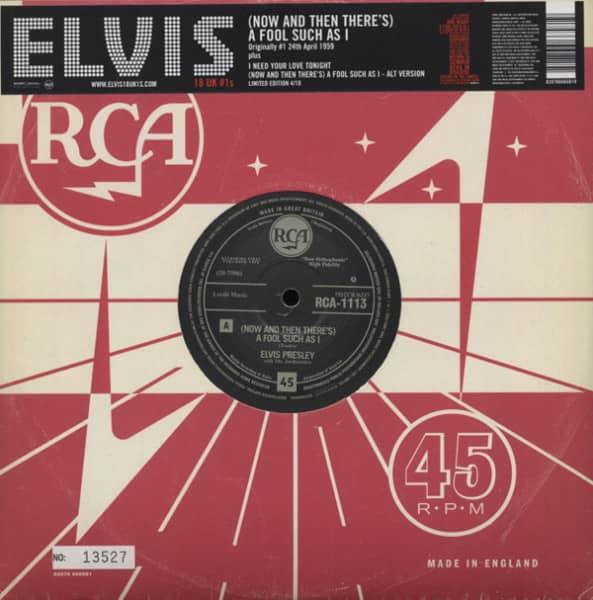 18 UK #1s - A Fool Such As I (10inch, 45rpm, Ltd.)