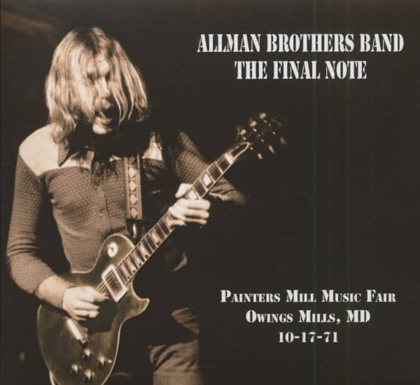 The Final Note - Painters Mill Music Fair Owings Mills, MD 10-17-71 (CD)