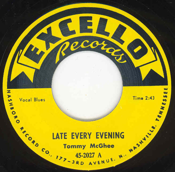 Late Every Evening b-w Poppin' 7inch, 45rpm