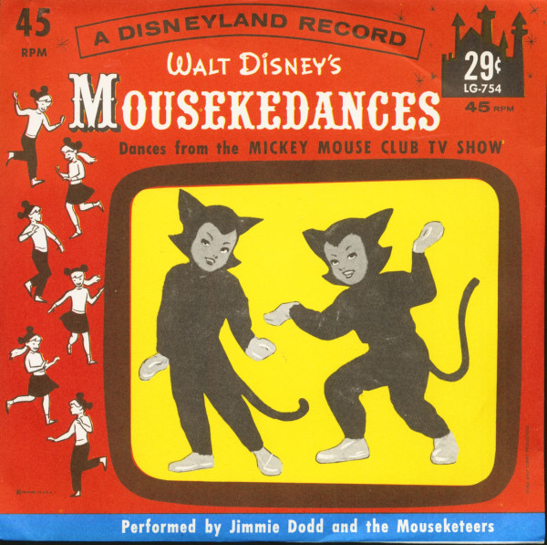 Mousekedances From Walt Disney's Mickey Mouse Club TV Show (7inch, 45rpm, PS)