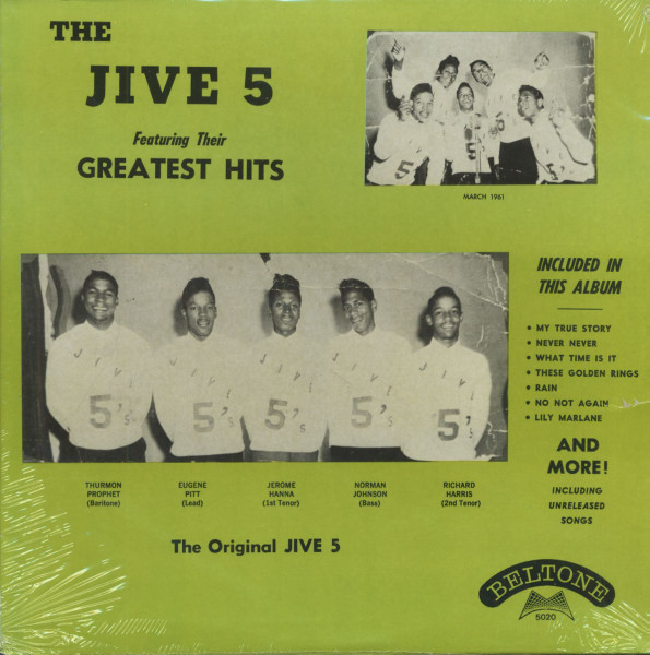The Jive 5 Featuring Their Greatest Hits (LP)