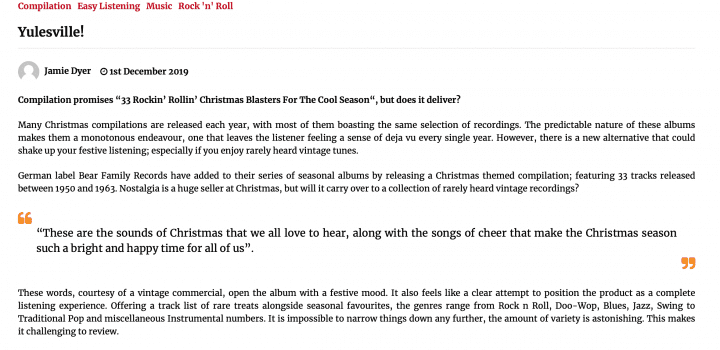 Presse-Archiv-Yulesville-33-Rockin-Rollin-Christmas-Blasters-For-The-Cool-Season-oldtimereviews