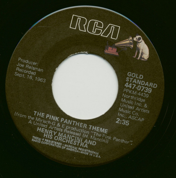 The Pink Panther Theme - Dear Heart (7inch, 45rpm, BC)