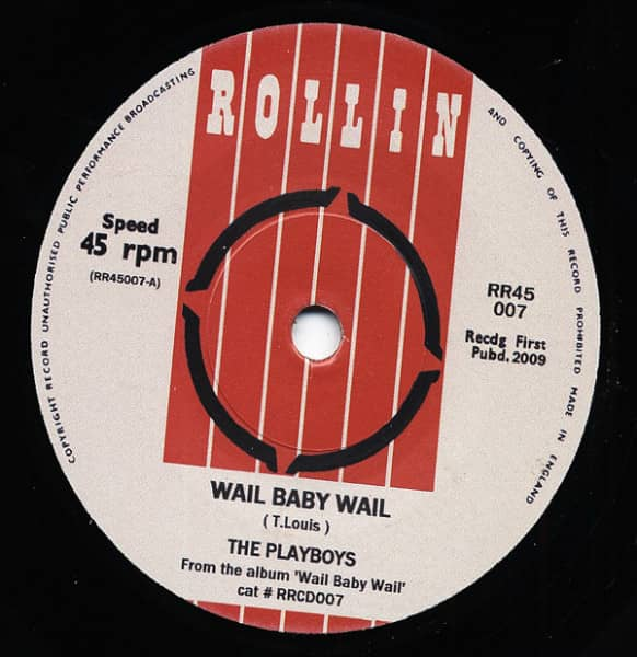 Wail Baby Wail - Come Back Baby 7inch, 45rpm, SC