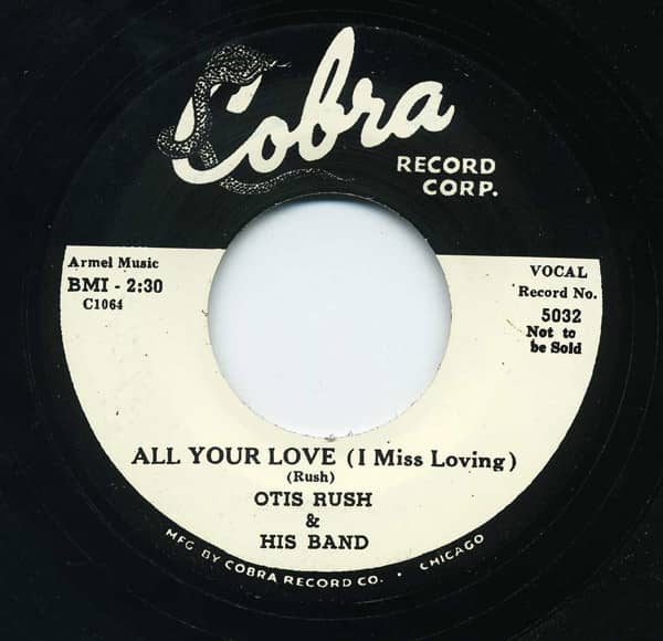 All Your Love - My Baby's Good'un 7inch, 45rpm