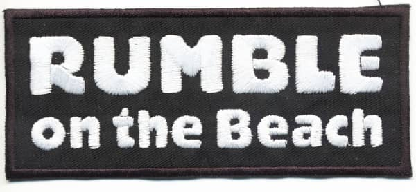 Rumble On The Beach - Patch (Black & White)