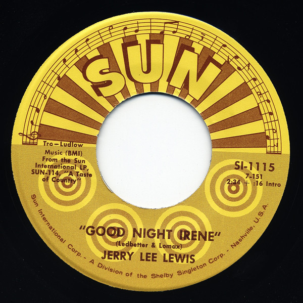 Good Night Irene - I Can't Seem To... 7inch, 45rpm