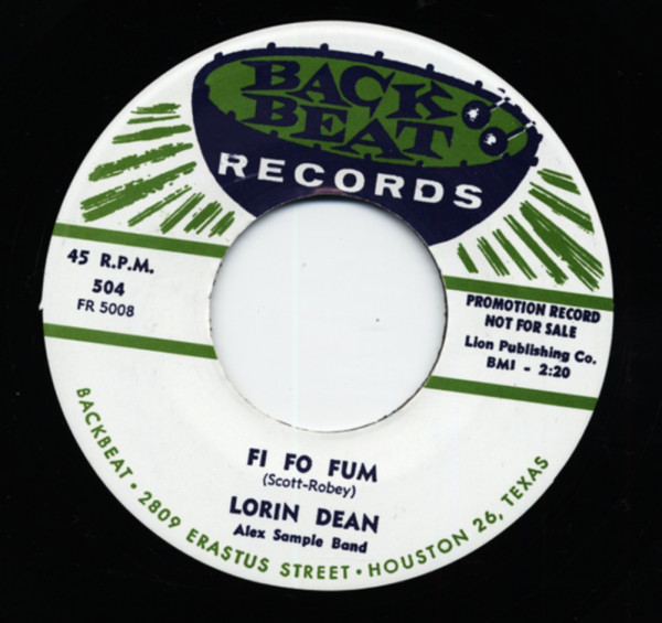 Fi Fo Fum b-w I'm In Love 7inch, 45rpm