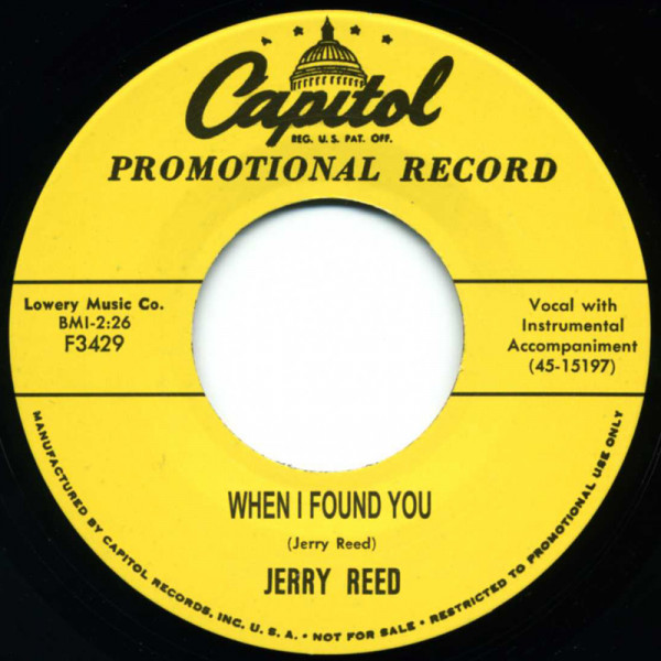 When I Found You - I've Had Enough 7inch, 45rpm