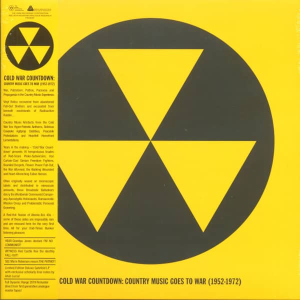 Cold War Countdown - Country Music Goes To War 1952-1972 (LP, Limited Edition)