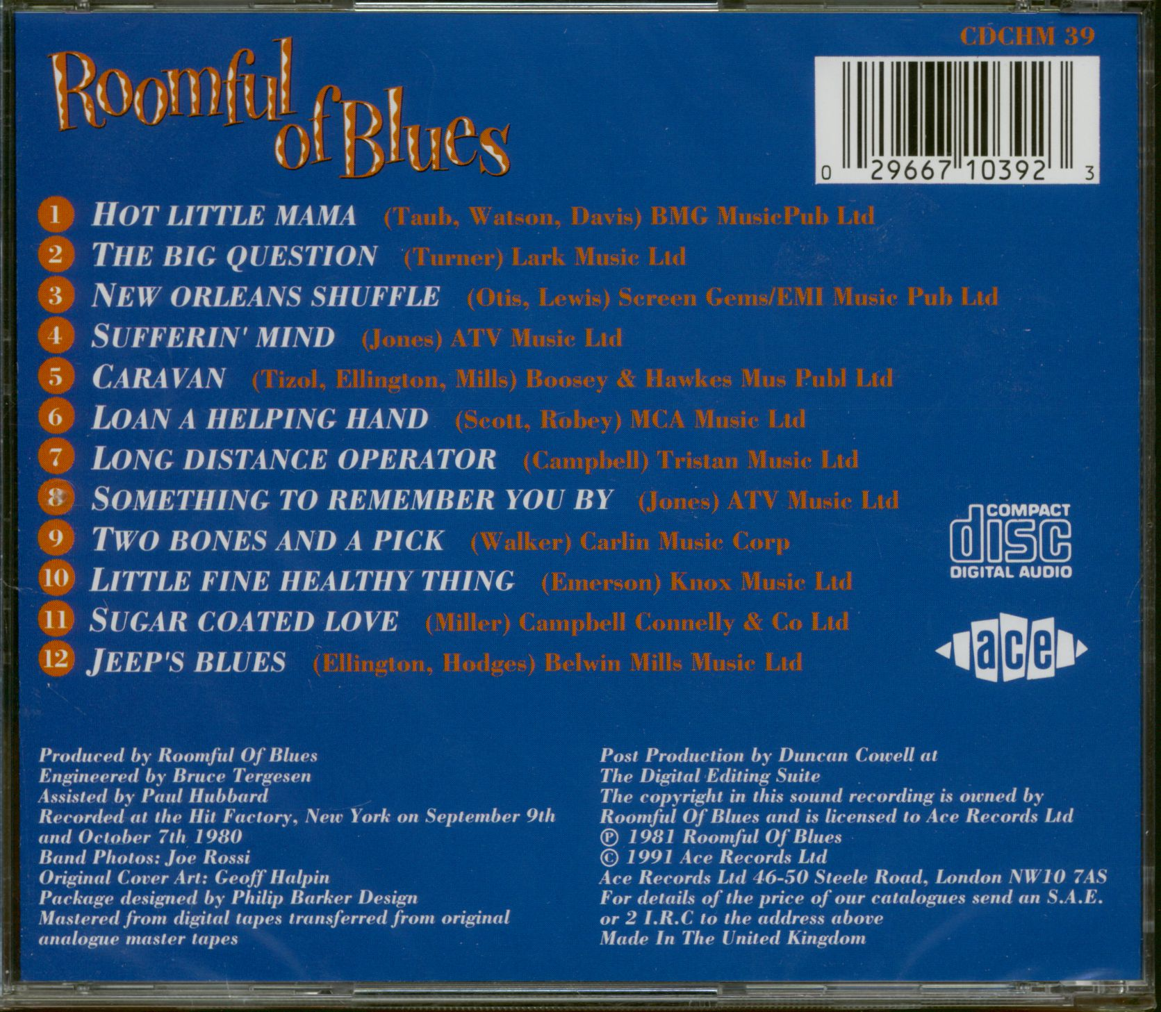 Roomful Of Blues Hot Little Mama Cd
