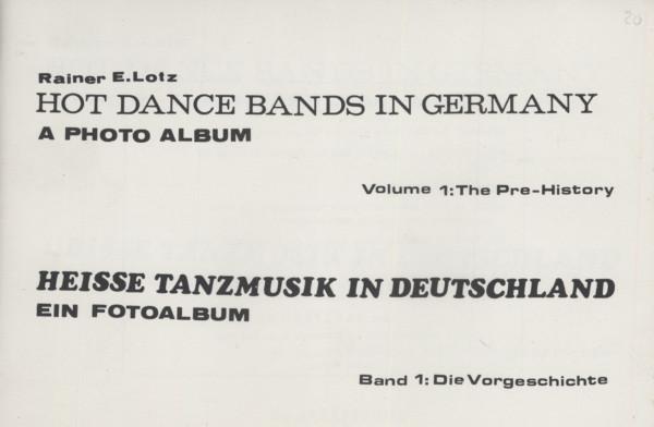 Heisse Tanzmusik In Deutschlan - Rainer E. Lotz: Ein Fotoalbum
