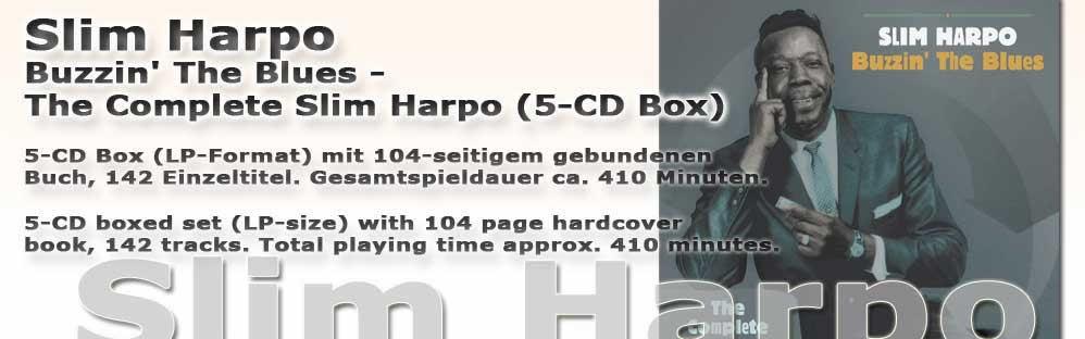 Harpo, Slim Buzzin' The Blues - The Complete Slim Harpo (5-CD Box)