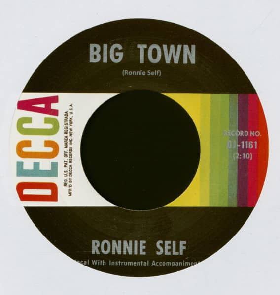 Big Town -Too Many Lovers (7inch, 45rpm)