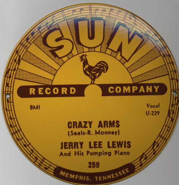 SUN RECORDS Emailschild 25cm - 10' Jerry Lee Lewis